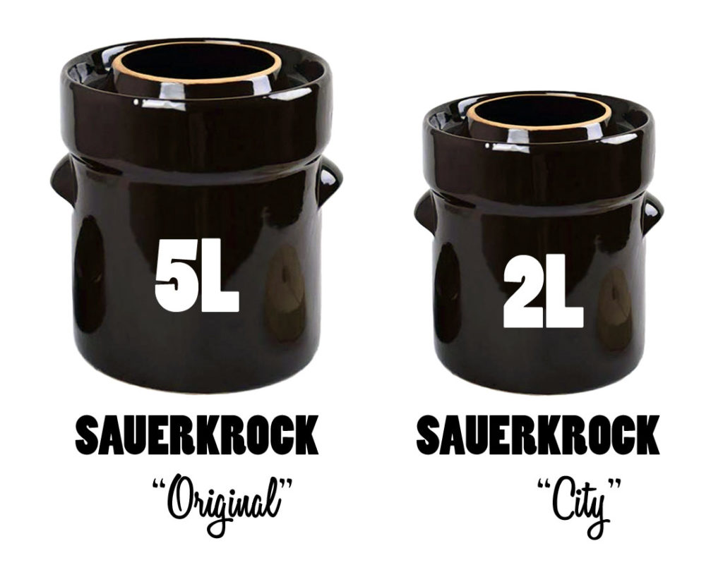 Humble House Sauerkrock Fermentation Crock 5L 2L Original City Kimchi Sauerkraut Pickles