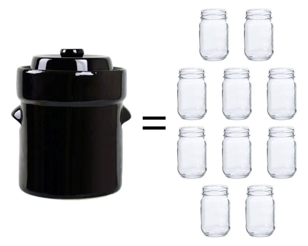 fermentation crock mason jar fermenting food DIY sauekraut kimchi pickles kombucha