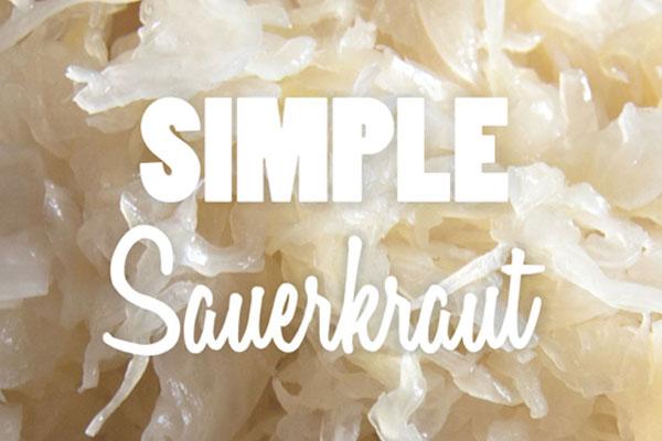 Simple Traditional German Sauerkraut Recipe