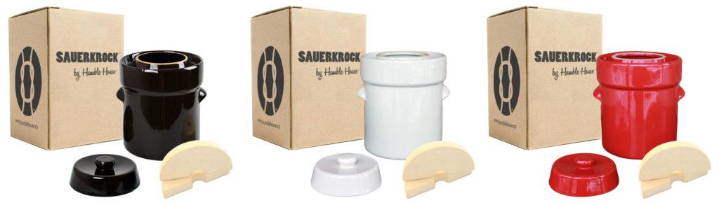Sauerkrock Color Fermentation Crocks